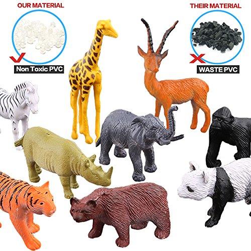 Animal Toys For Boys : Animals figure piece mini jungle toys set