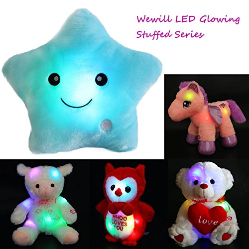 Wewill Creative Glowing Led Night Light Twinkle Star Shape Plush