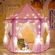 e-joy Kids Indoor/Outdoor Play Fairy Princess Castle Tent Portable Fun Perfect Hexagon Large Playhouse toys for Girls/Children/toddlers Gift Room X-Large ... & e-joy Kids Indoor/Outdoor Play Fairy Princess Castle Tent ...